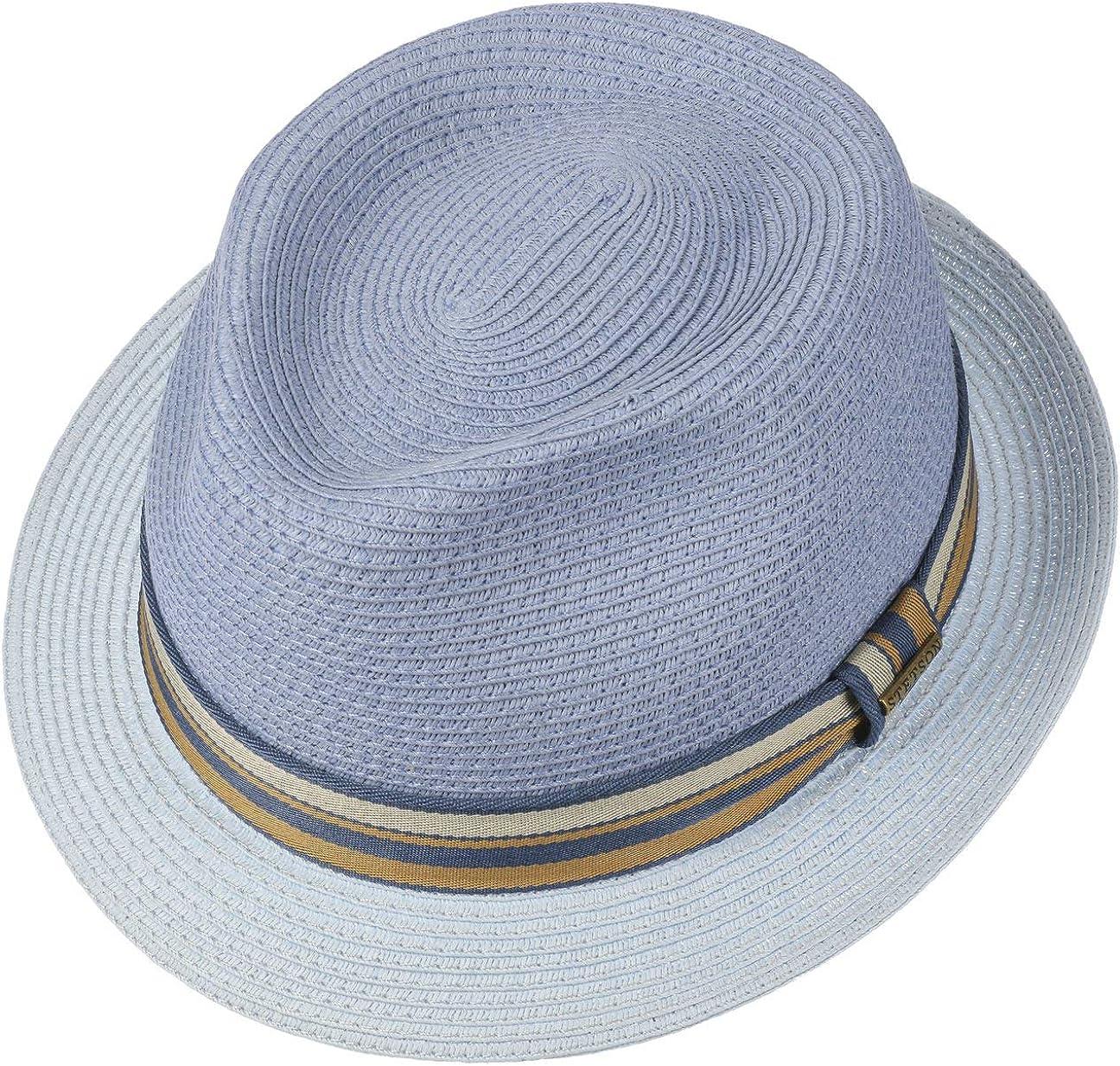 Cappelli da Spiaggia Sole con Nastro in Grosgrain Primavera//Estate Stetson Cappello di Paglia Licano Toyo Trilby Uomo
