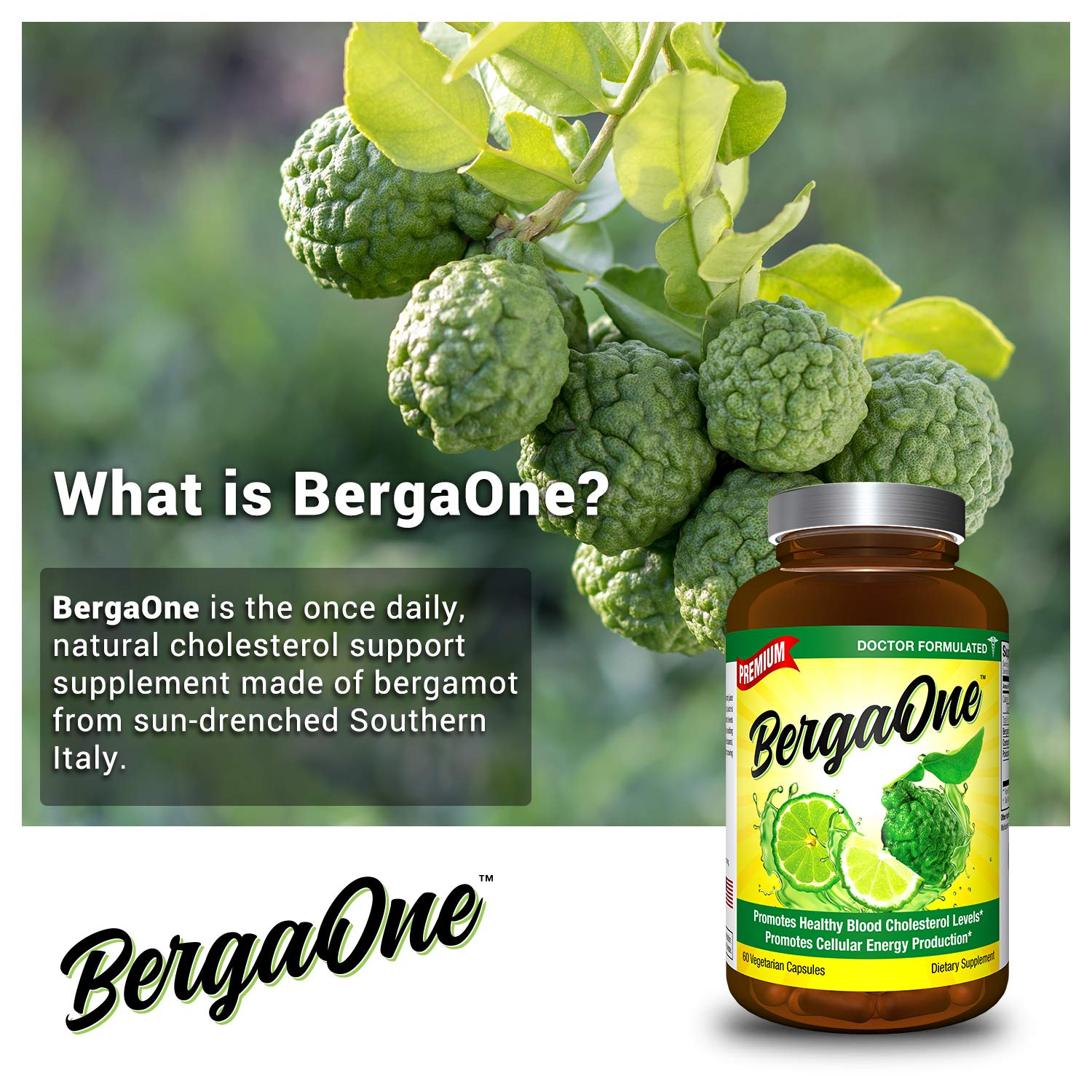 BergaOne – Italy s Citrus Discovery for Healthy Cholesterol – Once Daily