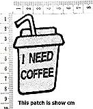Glass I Need Coffee Beverage Drinking Coffee