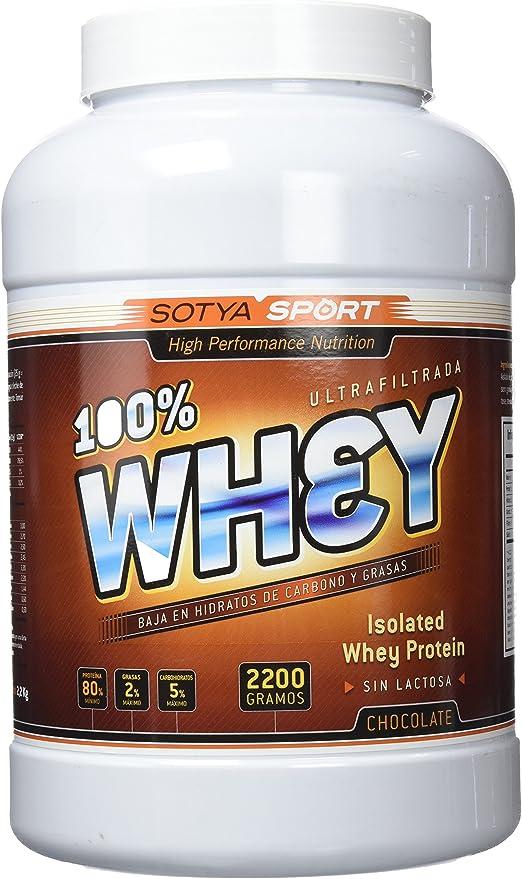 SOTYA Proteína Whey 100% Chocolate Belga 2.2 kg: Amazon.es ...