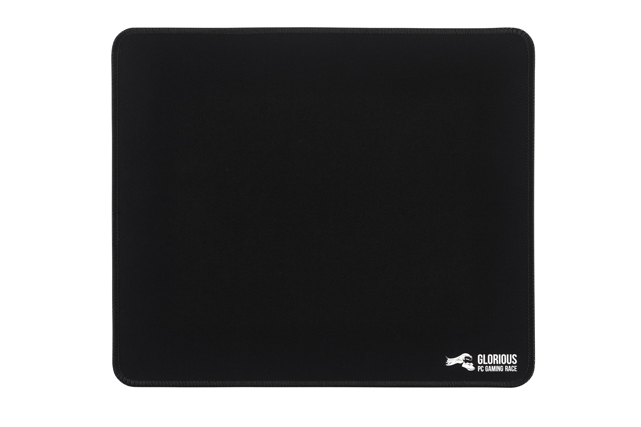 Glorious Large Gaming Mouse Mat/Pad - Stitched Edges, Black Cloth Mousepad   11x13 (G-L)