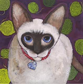 product image for Santa Fe Artist Lori Faye Bock Art Note Card Portfolio - Siamese Cats (12 Cards)