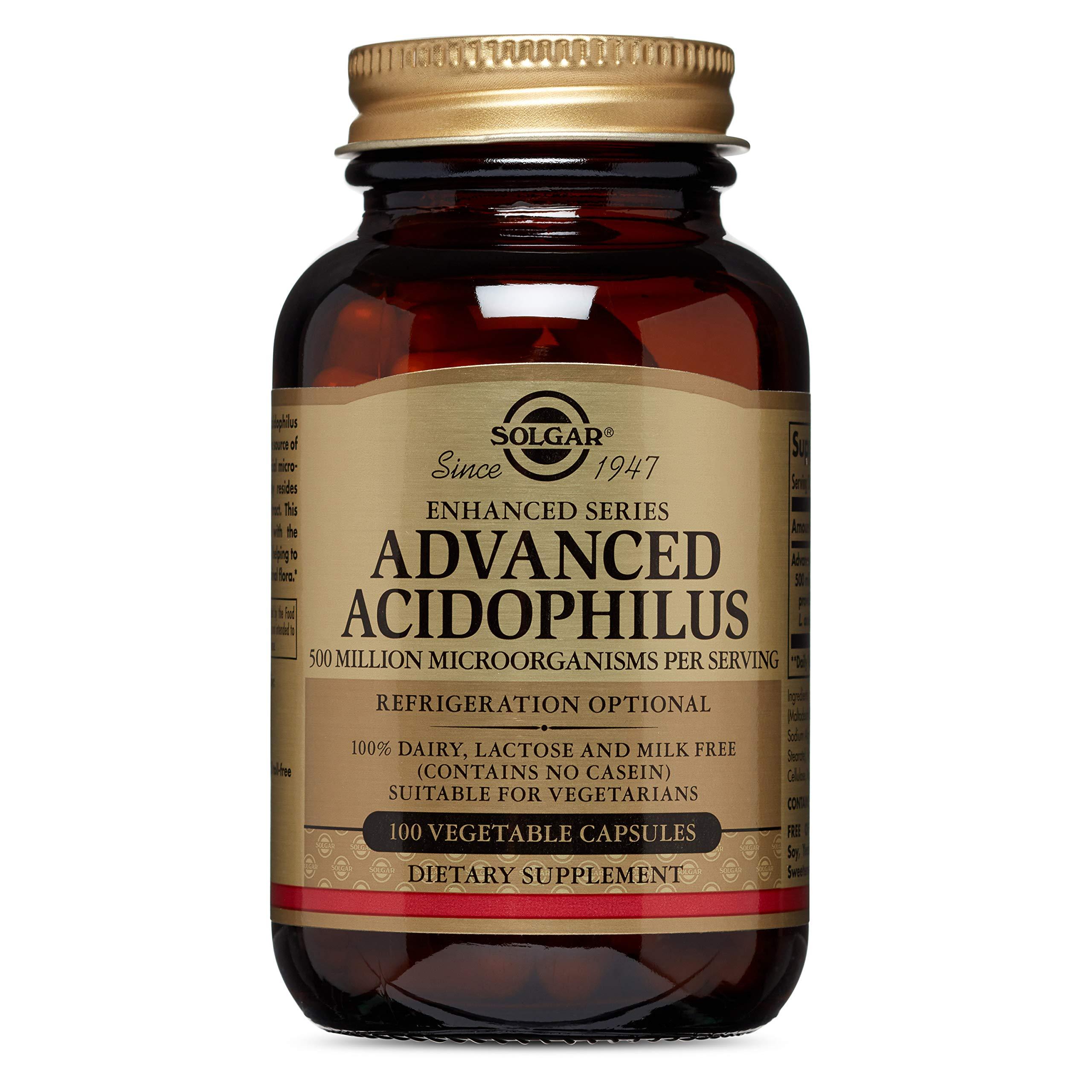 Advanced Acidophilus Solgar 100 Vegetable Caps by Solgar