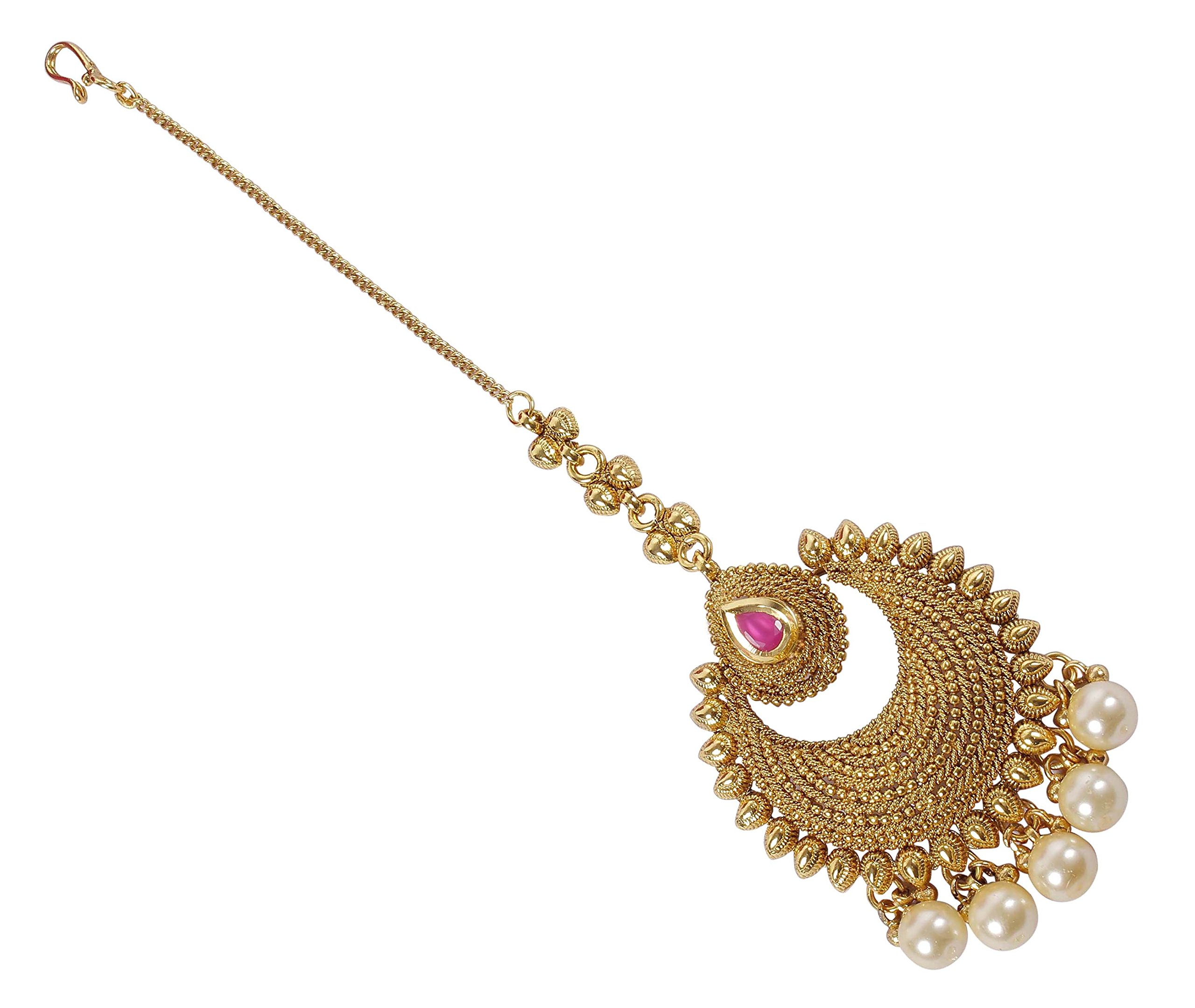 MUCH-MORE Indian Style Party wear Maang Tikka Forehead Traditional Jewelry (2153)