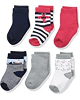 Luvable Friends Baby Crew Socks 6-Pack