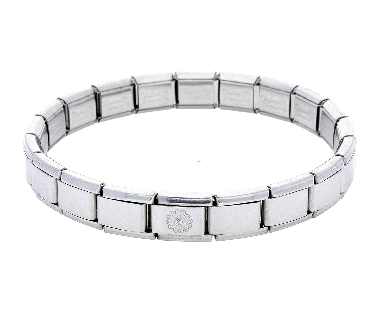 b5e0acbf8 Daisy Charm 19 Link La CIMA Shiny Base Bracelet fits Nomination Classic  Size: Amazon.co.uk: Jewellery
