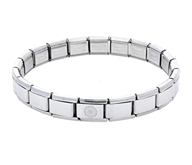 9517f8b294603 Daisy Charm 19 Link La CIMA Shiny Base Bracelet fits Nomination Classic Size