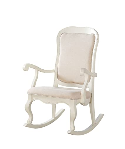 Acme Furniture 59388 Sharan Rocking Chair, Antique White - Amazon.com: Acme Furniture 59388 Sharan Rocking Chair, Antique White