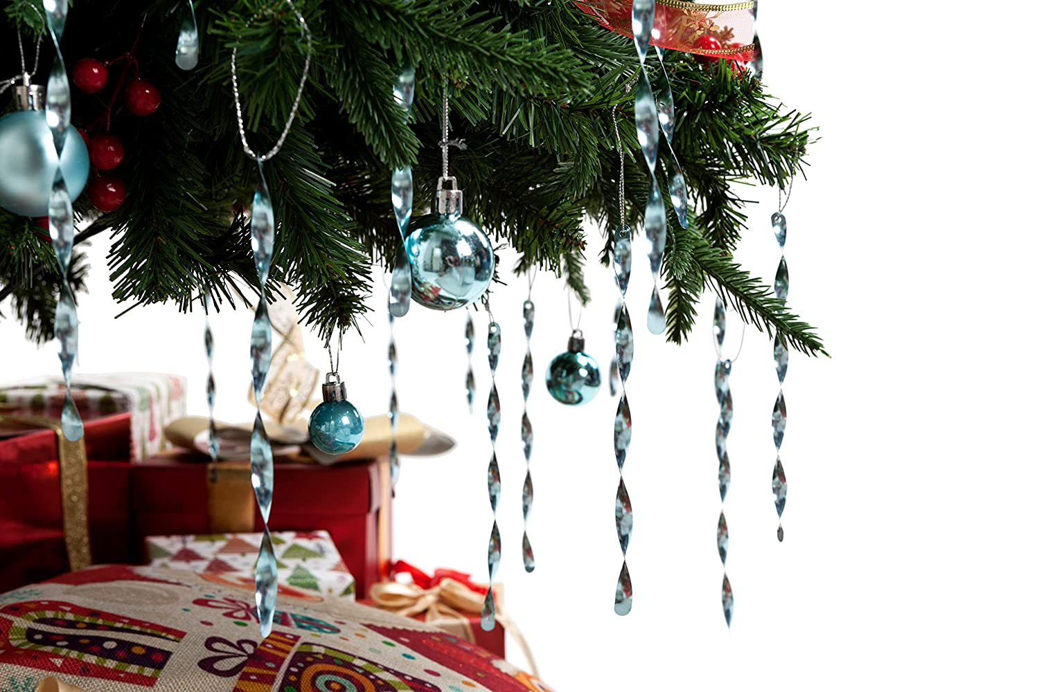 AMS Christmas Tree Aluminum Spiral Strip Hangings - 7 24pcs ...