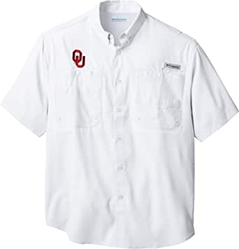 Large White ALA NCAA Alabama Crimson Tide Mens Tamiami Short Sleeve Shirt