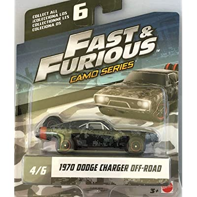 Mattel Fast & Furious Camo Series 1970 Dodge Charger Off-Road 4/6: Toys & Games