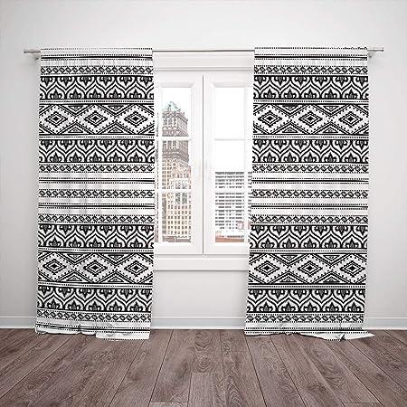 Swell Polyester Window Drapes Kitchen Curtains Ethnic Oriental Interior Design Ideas Clesiryabchikinfo