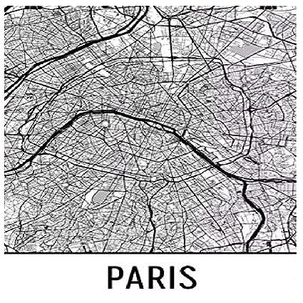 Amazon.com: Paris Poster, Paris Art Print, Paris Wall Art, Paris Map ...