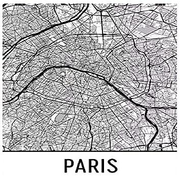 Karte Paris Stadtplan.Modern Map Art Paris Poster Paris Kunstdruck Paris Wandkunst