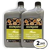 Sun Joe SWJ-Oil Chain Saw Bar Chain and Sprocket Oil, 1-Quart - 2 Pack