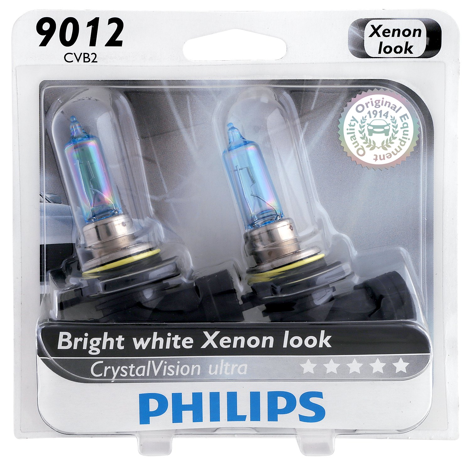 Amazon com philips 9012cvb2 crystalvision ultra upgrade headlight bulb 9012 hir2 2 pack automotive