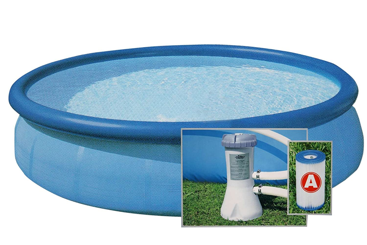 INTEX Pool Set EASY 366 x 76 cm mit Filterpumpe und DVD Plan