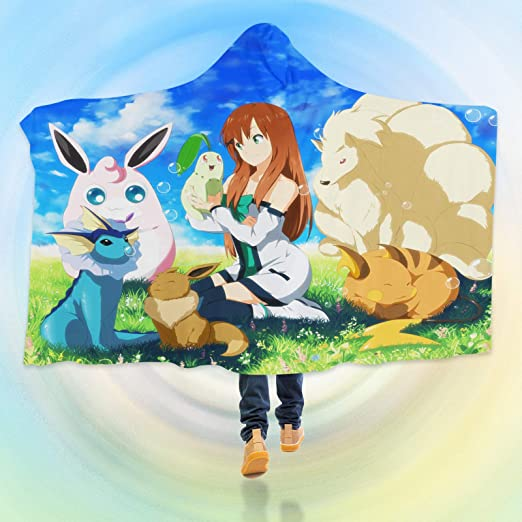 Aj Wallpaper 3d Manta Con Capucha Para Pokemon B468 Manta