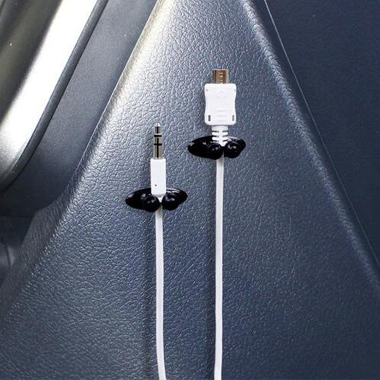 ADATECH 8 X CLIP ADHESIVO PARA COCHE ORGANIZADOR PINZA PARA CABLE USB AURICULARES CABLE GPS