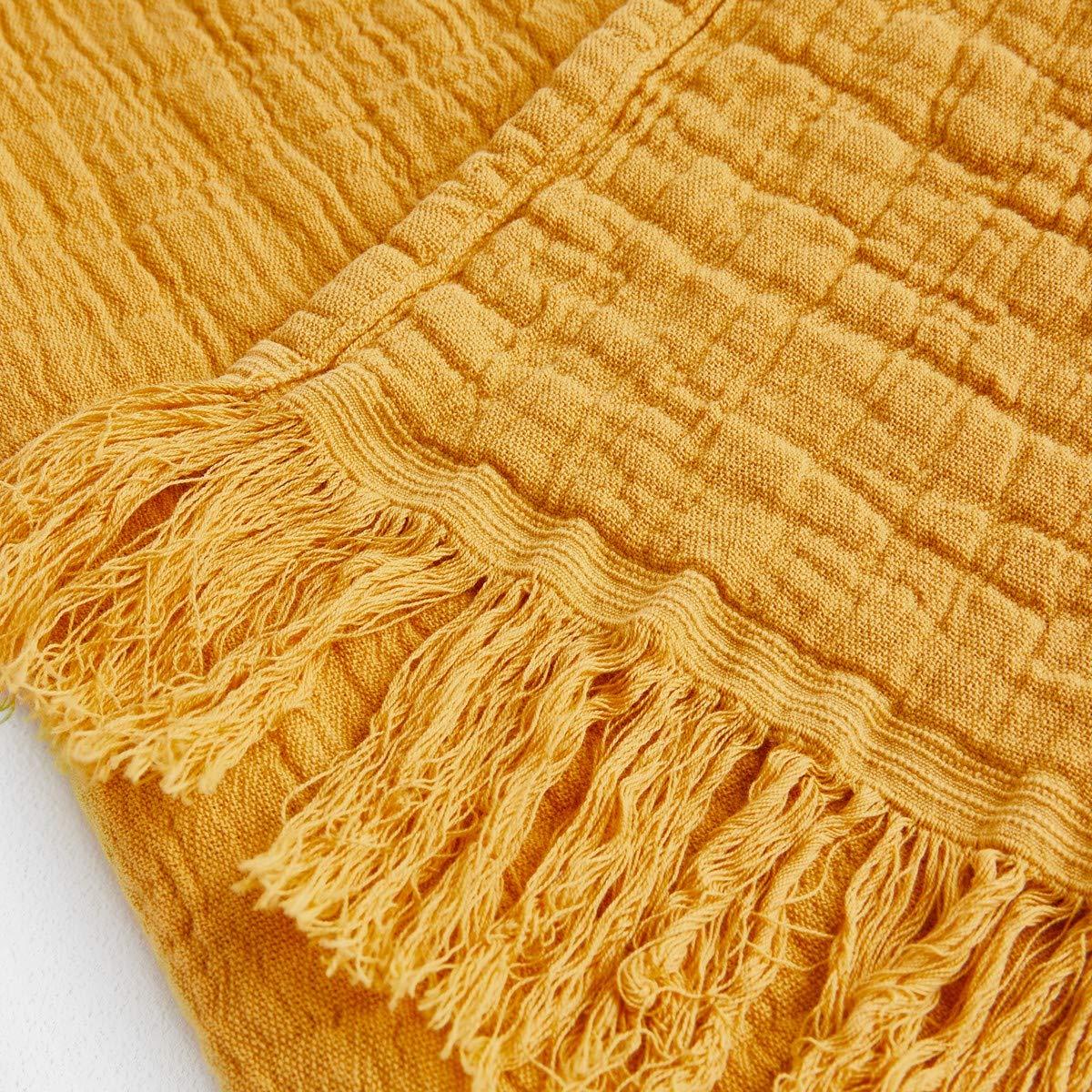 La Redoute Am.Pm Decke Aska Musselin Gre 130 X 180 cm Gelb