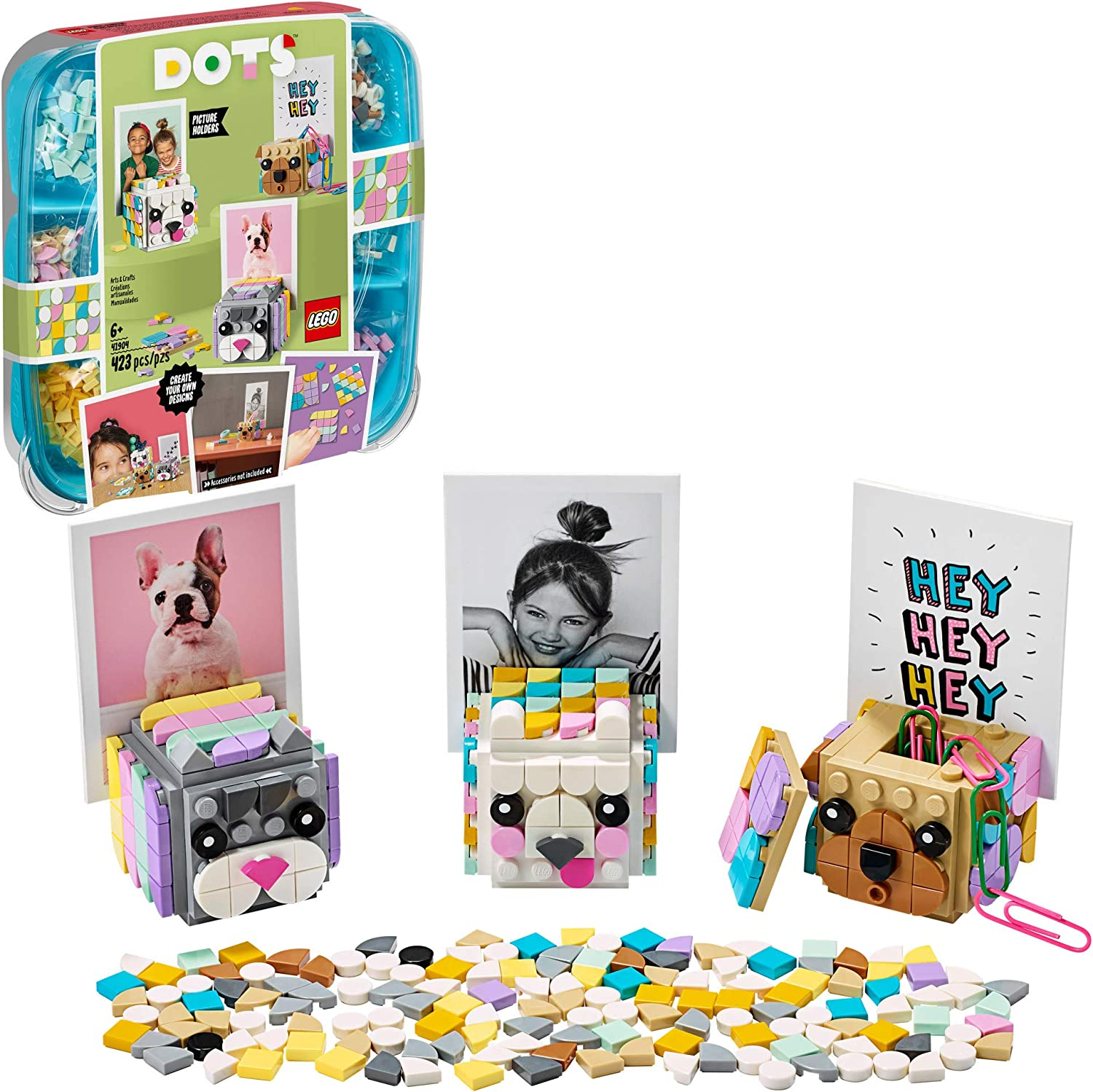 LEGO DOTS Animal Picture Holders 41904 DIY Craft; A Fun Project for Kids who Like Making Creative Room Decor, That Also Makes a Cool Holiday or Birthday Gift, New 2020 (423 Pieces)