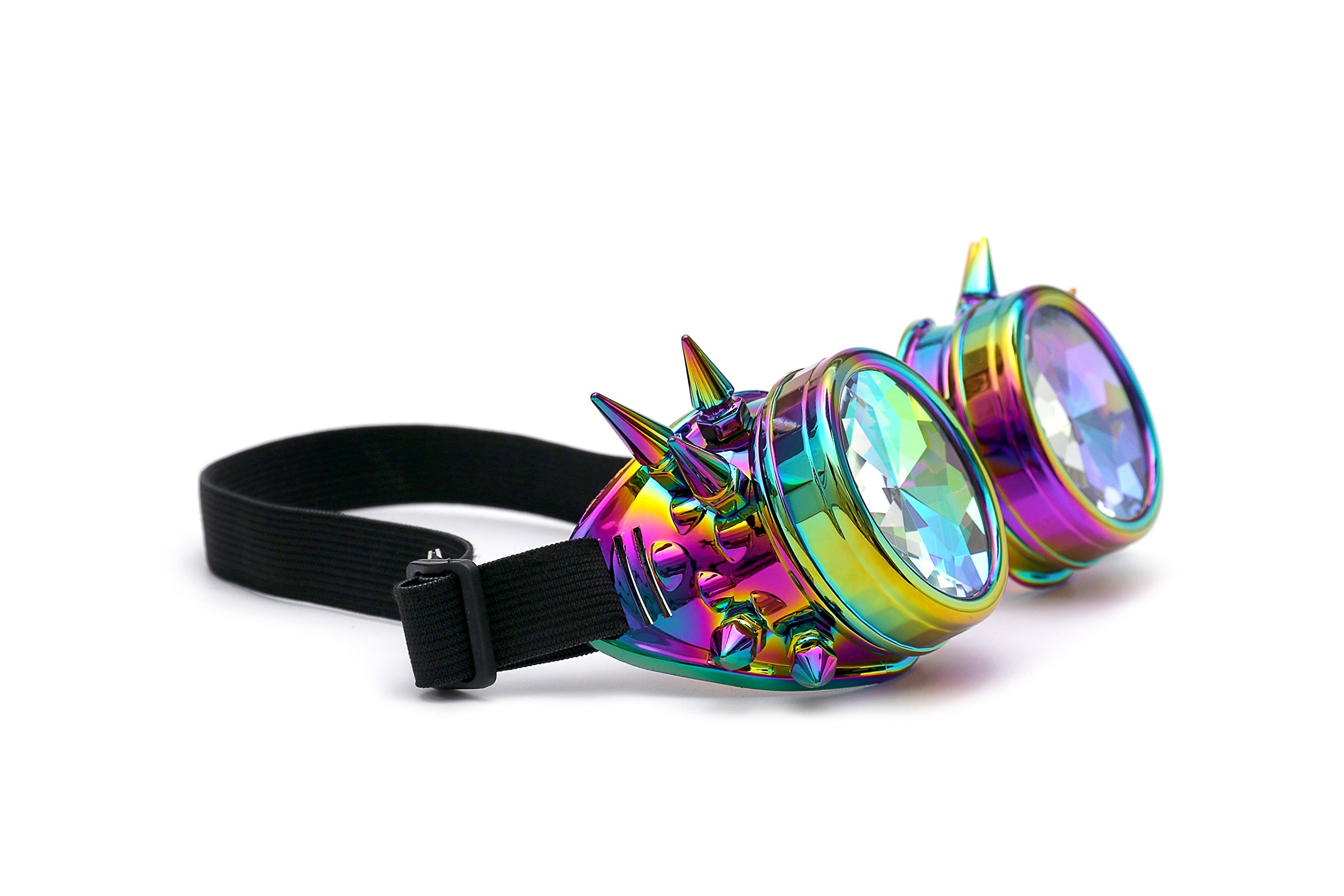 FIRSTLIKE Festivals Kaleidoscope Rainbow Glasses Prism Sunglasses Goggles by FIRSTLIKE (Image #6)