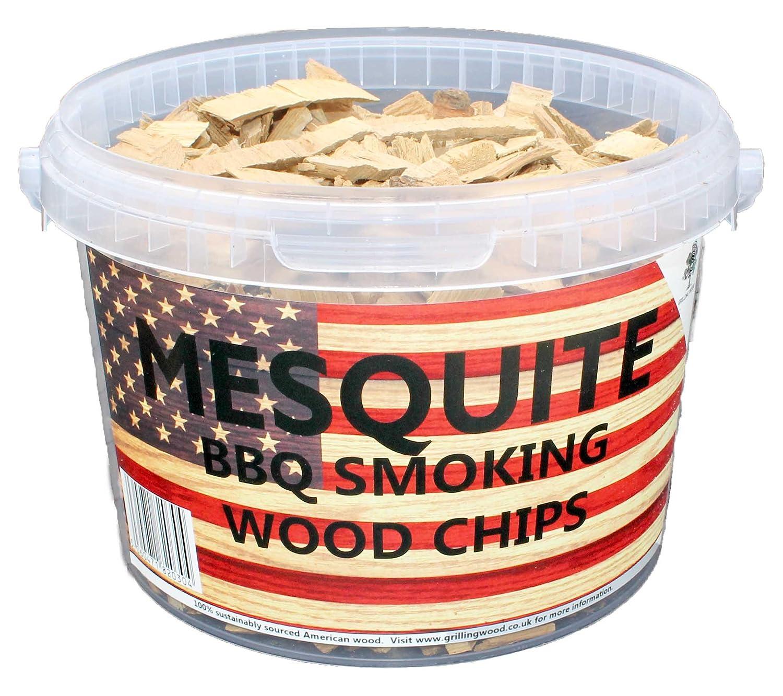 3litres de copeaux de bois pour barbecue ou fumoir Mesquite Mesquite Grilling Wood