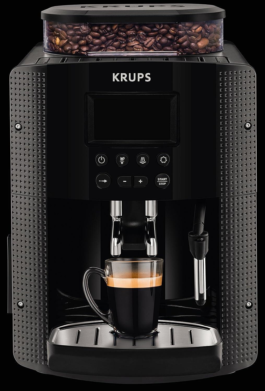 Krups EA8150 - Cafetera (Independiente, Máquina espresso, 1,7 L, Molinillo integrado, 1450 W, Negro): Amazon.es: Hogar