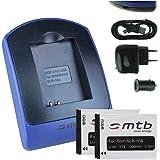 2 Akkus + Ladegerät (Netz+Kfz+USB) SLB-10a für Samsung ES., EX., HZ., IT., NV., PL., SL., WB., s. Liste