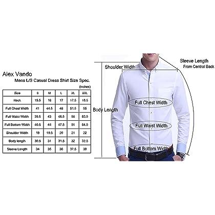 826d79f9754 Alex Vando Mens Dress Shirts Regular Fit Long Sleeve Men Shirt