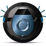 Philips FC8774/01 Smart Pro Compact Robotersauger mit 12,8 V Li-Ion Akku, 0.4 L, schwarz / blau