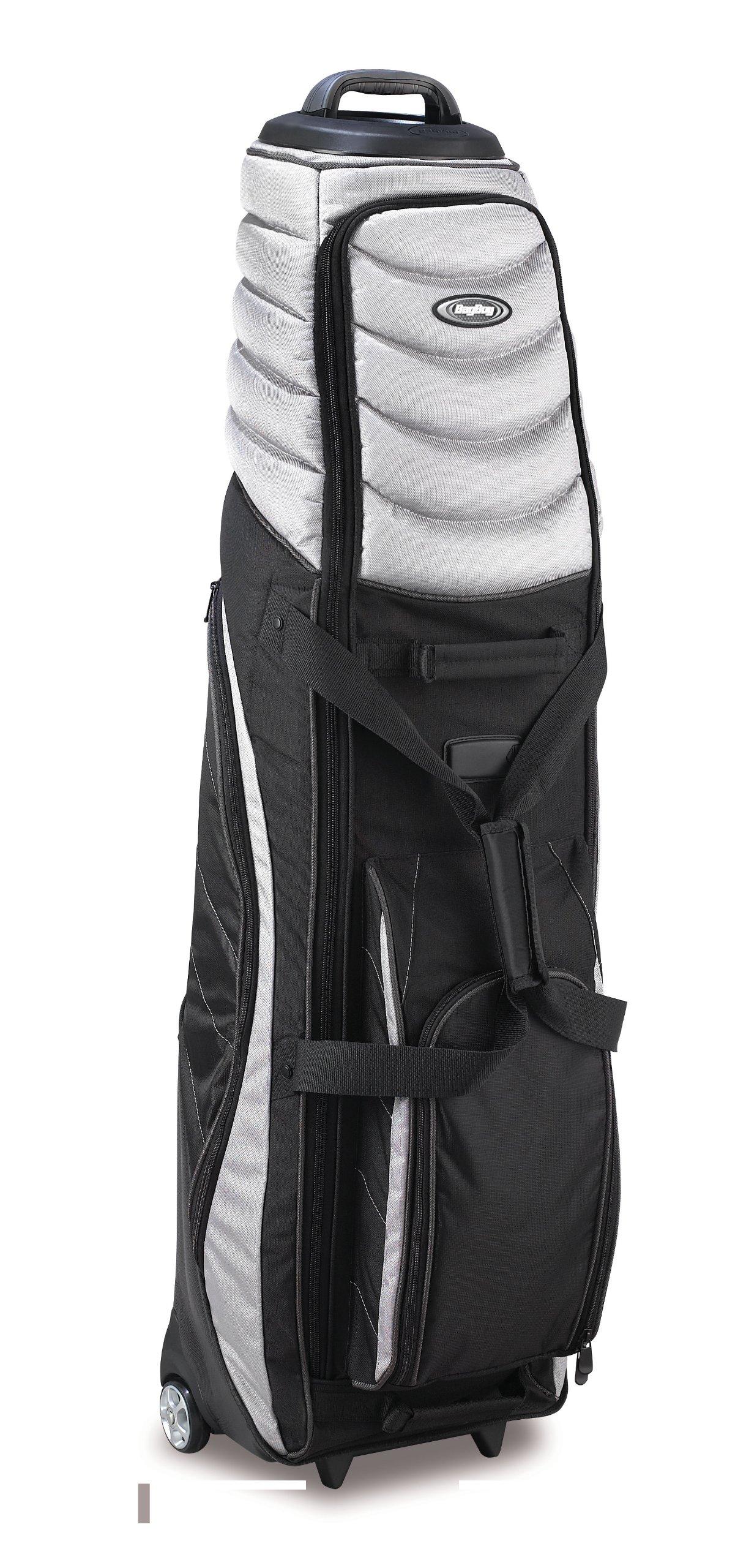 Bag Boy T-2000 Pivot Grip Wheeled Travel Cover, Silver/Black