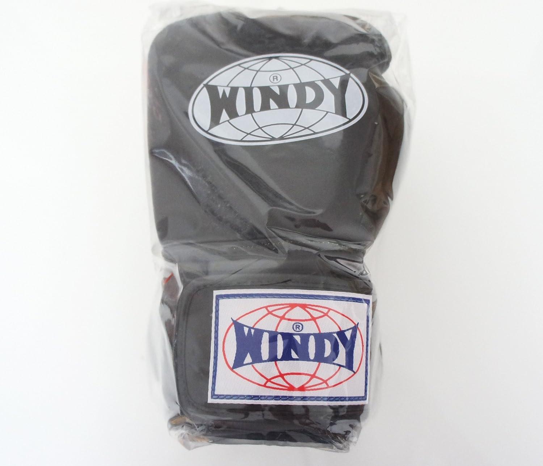 WINDY ウインディ 本革製キックボクシング グローブ 黒 14オンス
