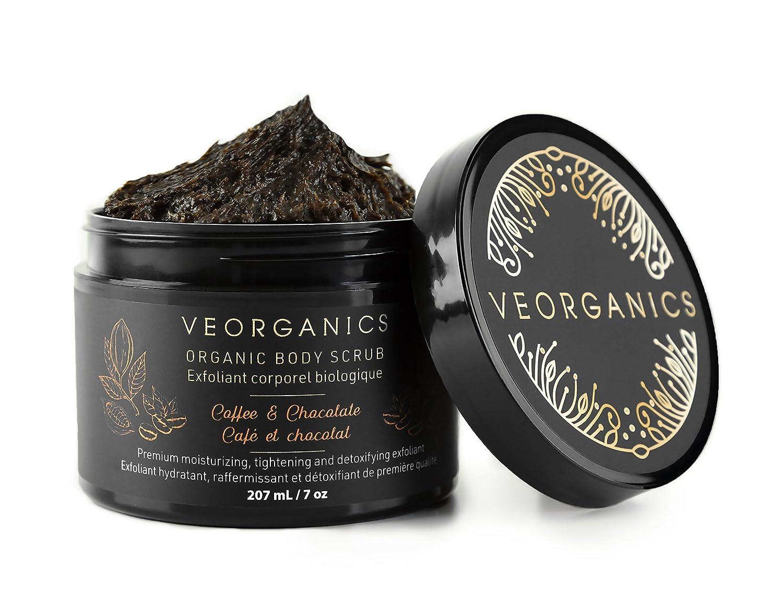 Organic Coffee & Chocolate Body Scrub by VeOrganics - Premium Moisturizing, Tightening and Detoxifying Exfoliant VeOrganics Inc.