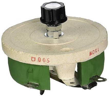 Sourcingmap - Bobinado lineal resistencia de 500 ohmios 150w rotatorio de cerámica reostato disco