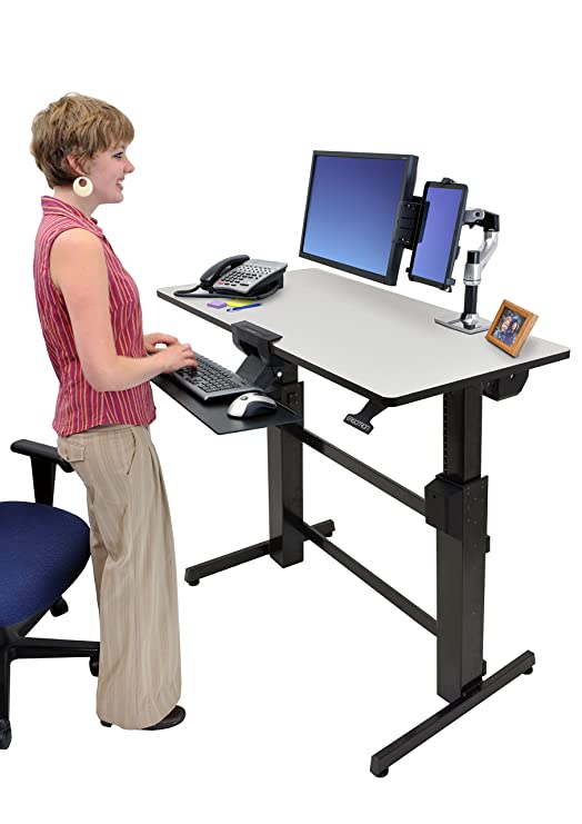 adjustable desk tray keyboard standing stand ergonomic sit sitting