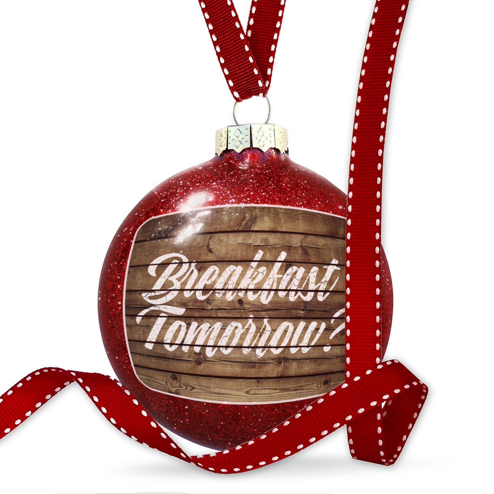 Christmas Decoration Painted Wood Breakfast Tomorrow? Ornament