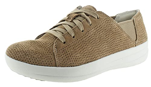 2ea96075d Fitflop F-Sporty Lace-Up Sneaker (Perf) Soft Brown  Amazon.co.uk ...