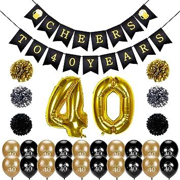 Amazoncom 40th Birthday Decoration Konsait Cheers to 40 Birthday