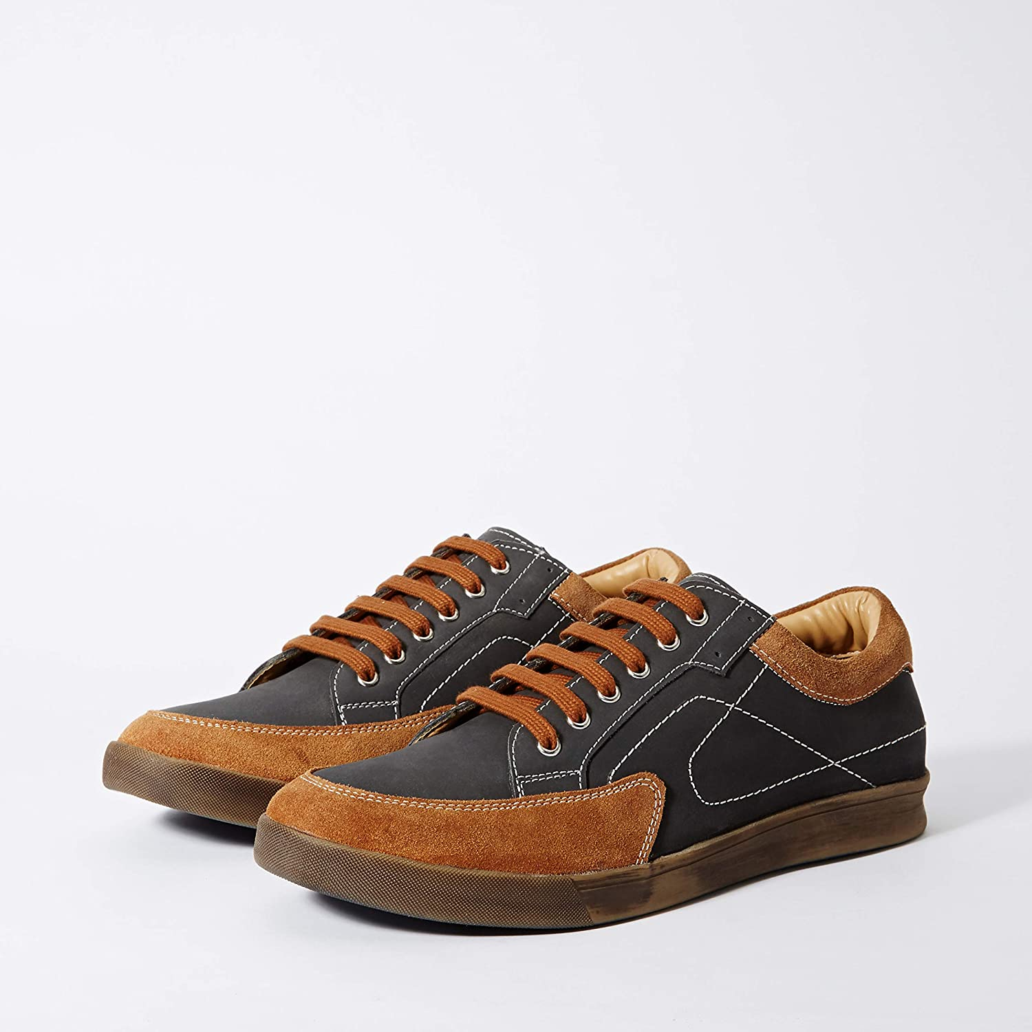 Red Chief Men's EXT134 Leather Sneakers