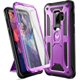 YOUMAKER Designed for Galaxy S9 Plus Case, Heavy Duty Protection Kickstand with Built-in Screen Protector Shockproof…