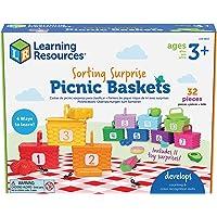 Learning Resources Sorting Surprise Picnic Baskets, Toddler Sorting & Matching Skills Toy, Fine Motor Skills, Preschool…