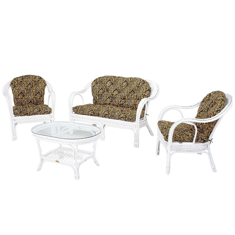 Rotin Design Conjunto de Interior EDELWEIS Blanco con ...