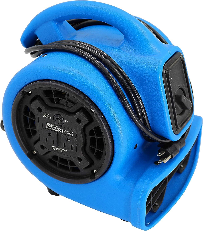 MOUNTO 1 5hp 3 Speed 800cfm Mini Commercial Air Mover Floor Dryer Fan