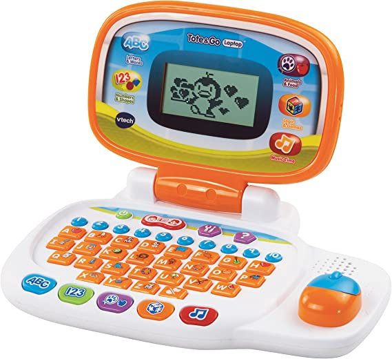 Vtech Tote /& Go Laptop Orange Kids Laptop Offers 20 Learning Activities That Te