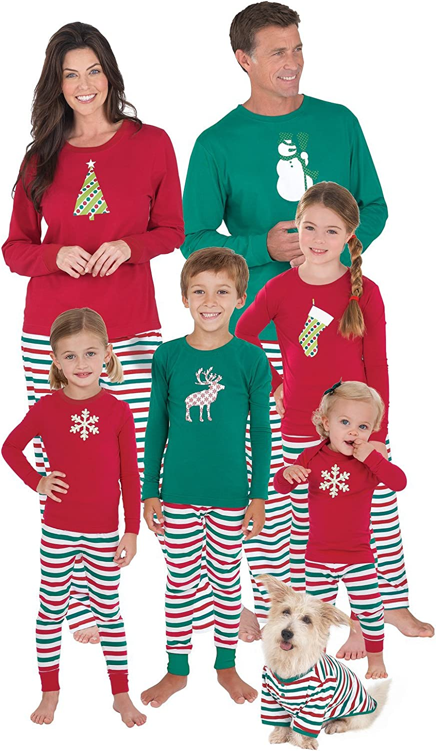 White Green Holiday Sets in Red Toddler and Kids Personalized Christmas Pajamas for Baby
