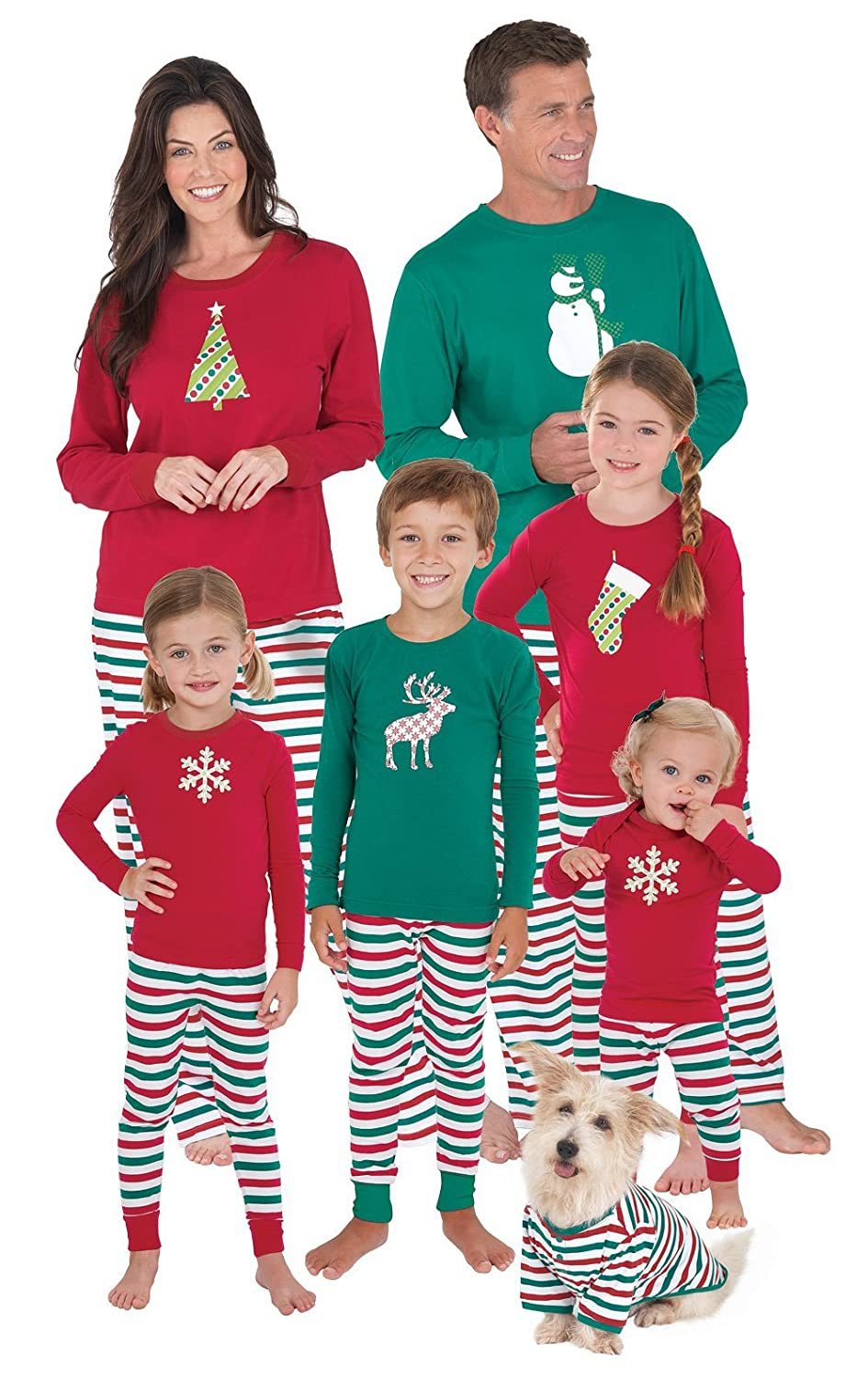 Holiday Stripe Matching Family Pajama Set