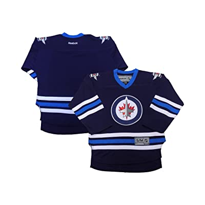 OuterStuff Winnipeg Jets Blank Reebok Navy Team Premier Youth Jersey