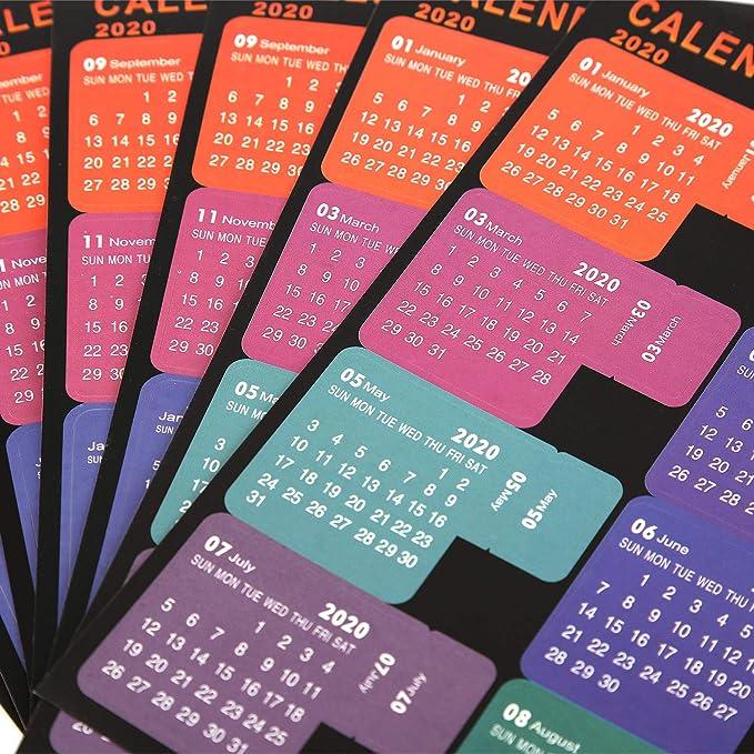 Amazon.com: AIEX 2020 - Etiquetas adhesivas mensuales para ...