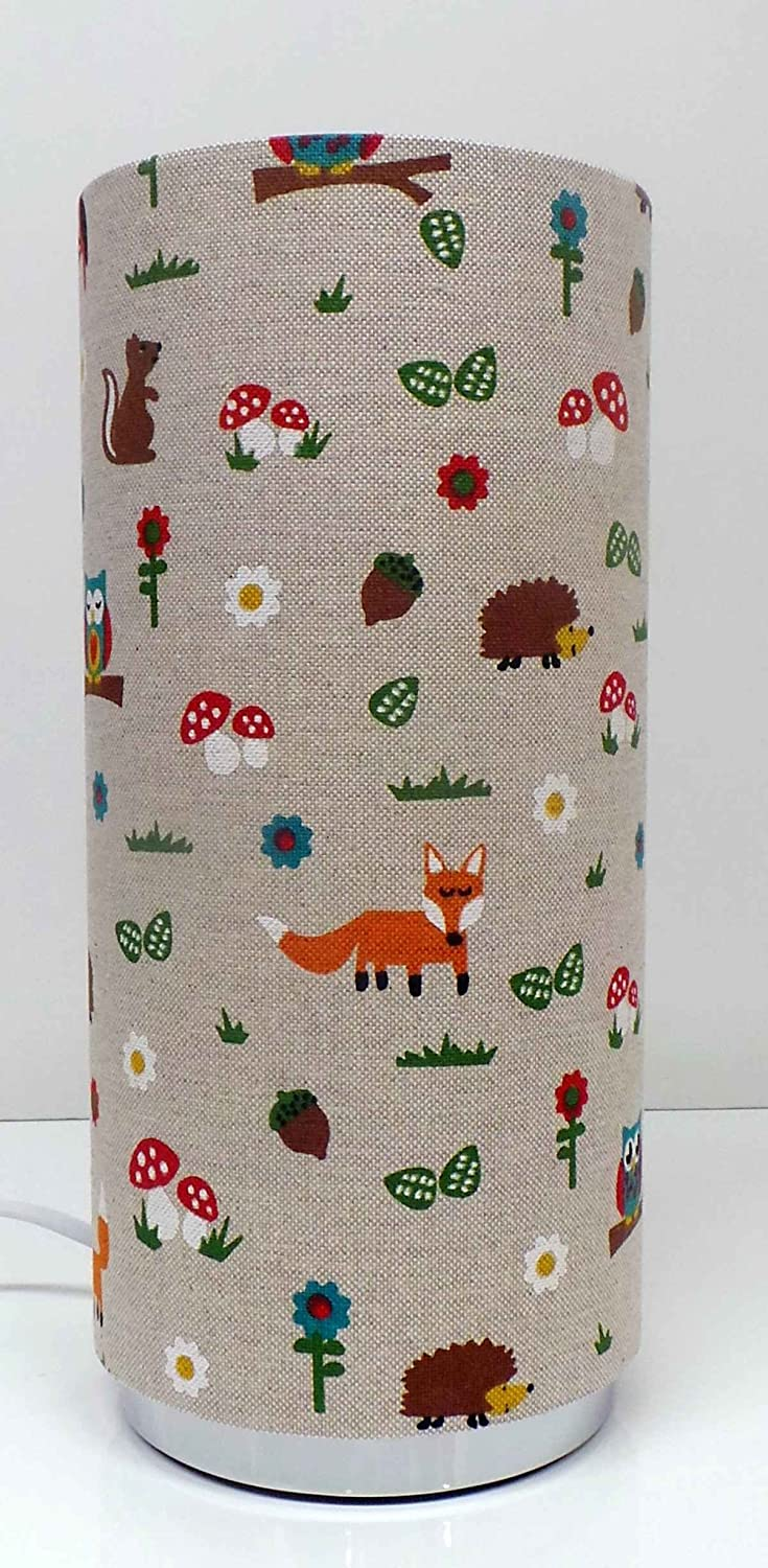 Woodland friends childrens bedside table lamp pad lamp amazon woodland friends childrens bedside table lamp pad lamp amazon lighting geotapseo Gallery